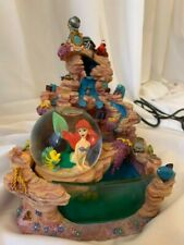 Disney The Little Mermaid Fountain With Lights and Snow Globe