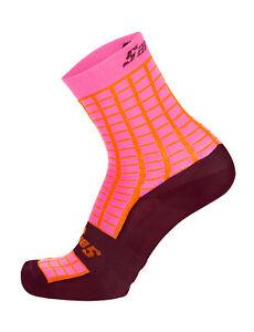 Santini Grido Cycling Socks in Orange Size XS/S