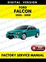 Ford Falcon 2005 2006 2007 2008 BA Factory Service Repair Workshop Manual