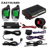 EASYGUARD 2way car alarm system LCD pager display ultrasonic sensor shock sensor