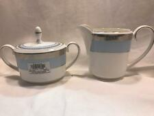 Wedgood Vera Wang Lace Boquet Iris Sugar Bowl I Creamer Set New