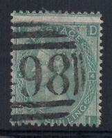 Großbritannien 1865 Mi. 27 Gestempelt 60% 1 Sh, Königin Victoria, D, I.