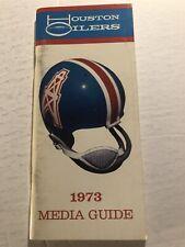1973 HOUSTON OILERS Media Guide Yearbook ELVIN BETHEA Burrough JOINER Pastorini