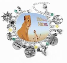 NEW The Lion King Silver Plated Charm Bracelet - Perfect Gift