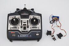 Hitec radiocomando Laser 4 con ricevente 2 servi vintage modellismo