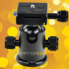 Metal Ball Head KS-0 Quick-Release Plate for Monopod Tripod&Camera Canon Nikon