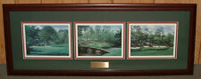 Framed Amen Corner golf print collage Augusta MASTERS - horizontal FREE SHIPPING