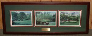 Framed Amen Corner golf print collage Augusta MASTERS - horizontal FREE SHIPPING
