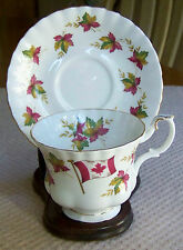 VINTAGE ROYAL ALBERT, FINE BONE CHINA, FROM SEA TO SEA, CANADA. MADE IN ENGLAND.