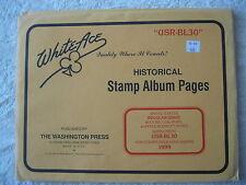 "1999 WHITE ACE STAMP ALBUM SUPPLEMENT "" USR-BL30 "" USA REGULAR ISSUE BLOCKS"
