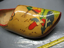 Dutch Wooden Shoe Hand Painted Holland Vg Condition