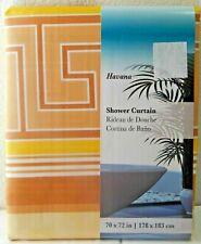 Havana Multi-colored Fabric Shower Curtain