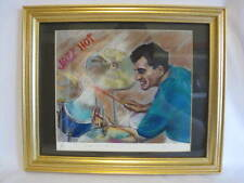 Cindy Alkire Pastel Portrait of Gary Via Kansas City Jazz Limited Edition COA