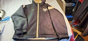 NHL Reebok Pittsburgh Penguins Black Gold Zippered Hoodie Jacket Med Boys 10-12