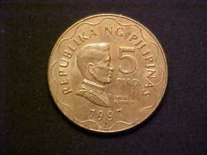1997 Philippines 5 PISO KM# 272 - Very Nice Choice BU Collector Coin! - d4190uqt