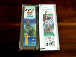 DON SHULA WINS 324 & 325 72 SBC DOLPHINS HOF SIGNED AUTO LIMITED EDITION TICKETS