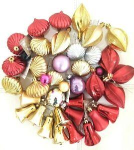 40Pcs  Variety Glitter Bright Christmas Tree Balls Ornament Baubles Xmas Party