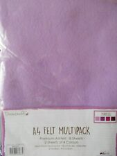 """Felt """"Purples """" Multipack """" 8 Pieces A4 Size New by Dovecraft"""