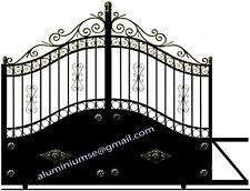 "portail aluminium coulissant ""Madrid-01"" ferronnerie alu à l'ancienne venduau M²"