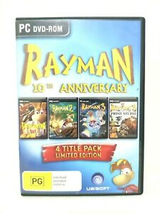 Rayman 10th anniversary 4 Title Pack Limited Edition PC DVD-ROM Game