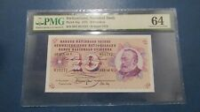 More details for pmg certified switzerland 10 franken banknote-1970 . pmg 64 choice uncirculated.