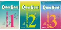 Querbeet - Das Liederbuch 1, 2 oder 3 - mit Noten, Texten und Akkordbegleitung