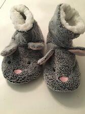 Mesdames gris bunny rabbit primark pantoufle pointure 3 4 5 stocking filler polaire