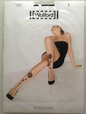 Nuevo | Wolford ® Rose Mary Tights Black/Black l 40/42/44 negro