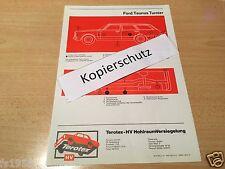 Ford Taunus Turnier ( Knudsen) - Terotex Hohlraumversiegelungsplan