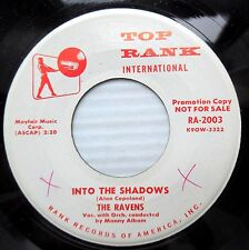 RAVENS doowop WHITE LABEL PROMO VG++ 45 Into The Shadows b/w Rising Sun F2319