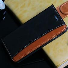 Iphone 6 4.7 Fashion De Lujo De Cuero Cartera Brown/black Flip Phone Funda Reino Unido rápido