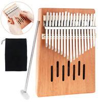 Portable 17 Key Mahogany Wooden Kalimba Mbira Thumb Piano Gift for Music Lover
