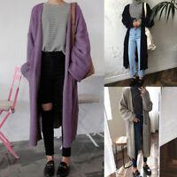 Women Casual Open Front Long Sleeve Knit Cardigan Sweater Coat Loose Jacket Warm