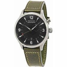 Movado Men's Watch Heritage Quartz Black Dial Green Leather Strap 3650019