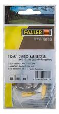 Faller H0/TT/N/Z 180677 Micro-Kabelbirnen weiß (3 Stück) - NEU + OVP