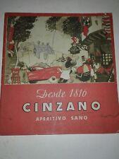 Vecchio opuscolo originale CINZANO Aperitivo vini