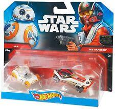 Hot Wheels Star Wars - BB-8 & Poe Dameron Cars, 2 pack, The Force Awakens