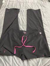 smitten scrub pants Sml Black Pink Trim