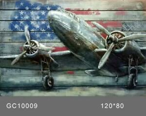 painting European Finery 3d wall art home decor airplane oil painting Handcraft