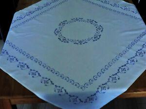 Blaudruck Indisch blau Tischdecke Mitteldecke 80 x 80 cm NEU