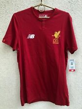 NEW GENUINE Men' Liverpool FC T-Shirt SMALL RED / TOP T SHIRT NEW BALANCE