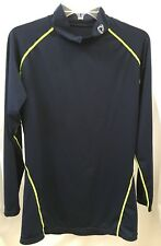 Tesla Mens Long Sleeve Base Layer Compression Shirt Athletic Navy Blue 2XL TMT11