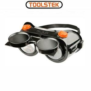 Welding Safety Flip Up Goggles Eye Protection Glasses Gas Welding Goggles with