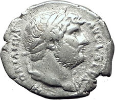 HADRIAN 128AD Rome Authentic QUALITY Ancient Silver Roman Coin ROMA i65077