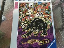 Ravensburger Puzzle 1000  Ed Hardy Love Kills Slowly BLACK  PANTHER   #191741