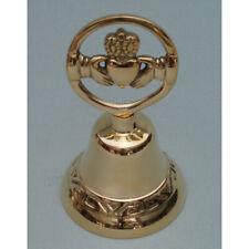 "Irish Wedding Bell Brass Claddagh Design 4.5"" Height x 2.5"" Width"