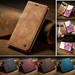 For Samsung S20 Ultra Note10 Plus S10 S9 S8 Flip Leather Wallet Phone Case Cover