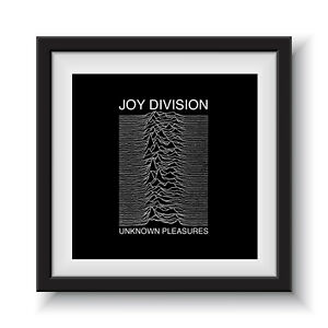 "Joy Division - Unknown Pleasures  12"" Album Cover - Framed 16"" x 16"""