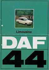 Prospekt DAF 44 Limousine 9/72 Autoprospekt 1972 Broschüre brochure Auto PKWs