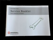 VAUXHALL ASTRA SERVICE BOOK - NEW - BLANK